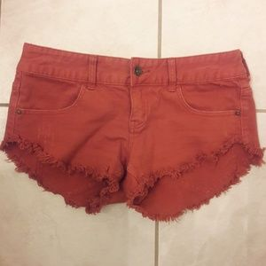 Billabong burnt Orange shorts size 27
